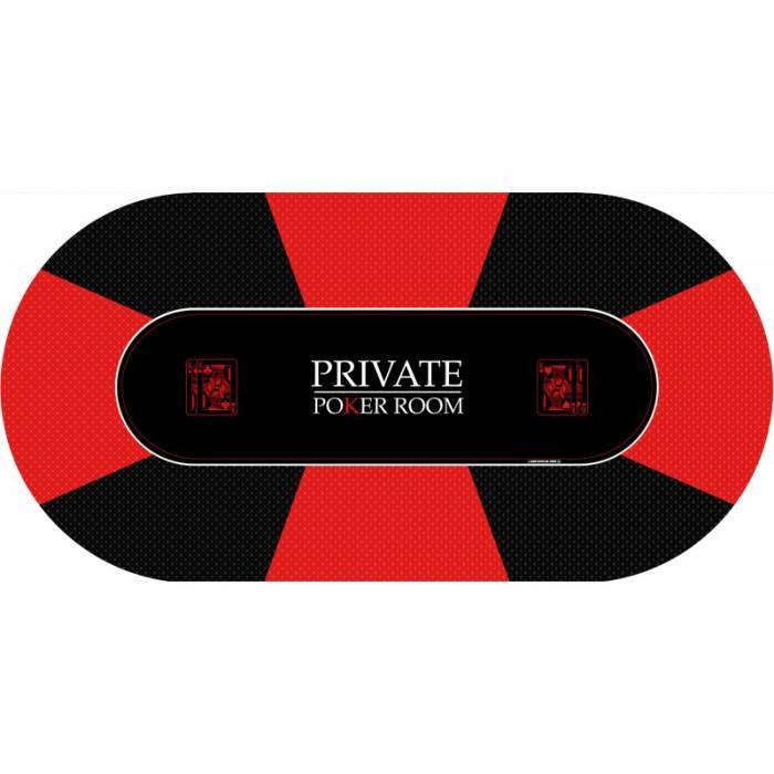 "Tapis de Poker ""Private Poker"" - ovale - 8 places"
