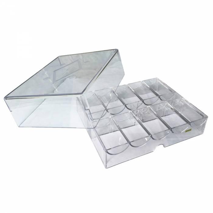 Rack de rangement pour 200 jetons de poker - en plexiglas