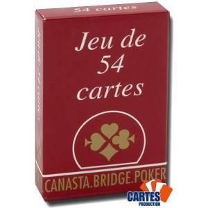 Gauloise - Jeu de 54 cartes cartonnées plastifiées – 4 index standards – portraits français