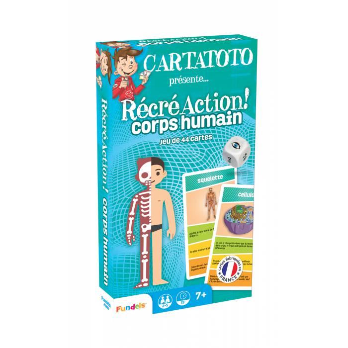 Cartatoto Récré Action ! Corps Humain – jeu de 44 cartes cartonnées plastifiées