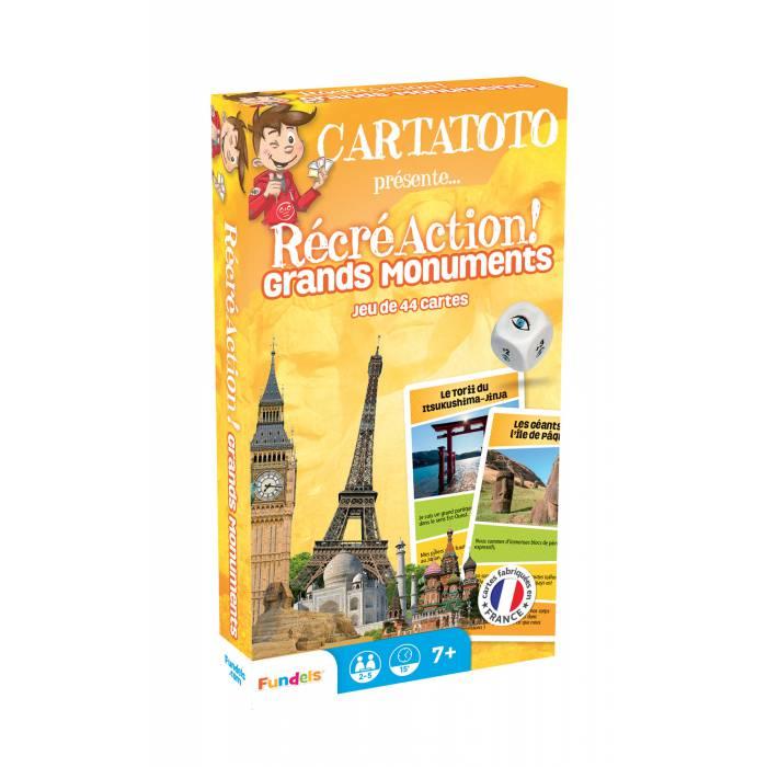 Cartatoto Récré Action ! Grands Monuments – jeu de 44 cartes