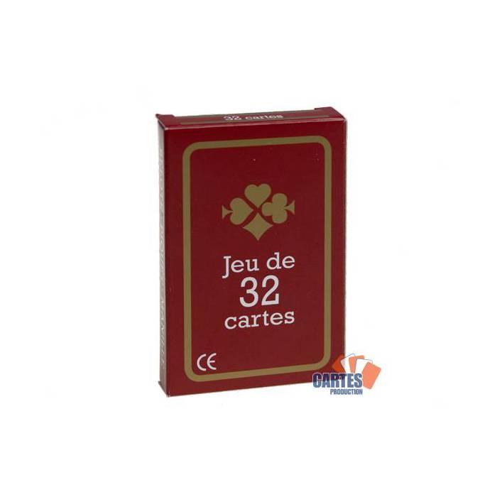 Gauloise – jeu de 32 cartes cartonnées plastifiées – 4 index standards – format bridge – portraits français