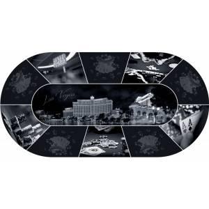 "Tapis de Poker ""Las Vegas Design"" - ovale - 180 x 90 cm - 10 places - jersey néoprène"
