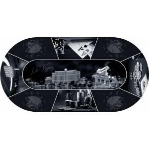"Tapis de Poker ""Las Vegas Design"" - ovale - 180 x 90 cm - 8 places - jersey néoprène"