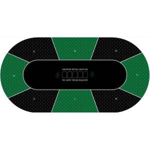 """Tapis de Poker """"Texas Holdem"""" - ovale- 180 x 90 cm - 8 joueurs - jersey néoprène"""