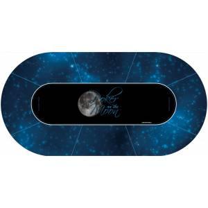 """Tapis de Poker """"Poker On The Moon"""" - ovale - 180 x 90 cm - 8 places - ovale - jersey néoprène"""