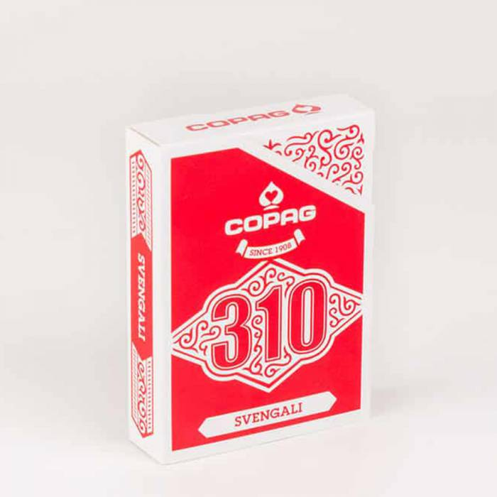 "COPAG 310 ""Svengali"" - Jeu Truqué - jeu de 56 cartes toilées plastifiées – format poker – 2 index standards"