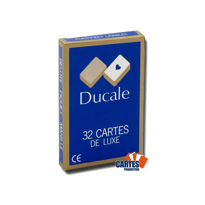 Ducale – jeu de 32 cartes cartonnées plastifiées – 4 index standards – format bridge – portraits français