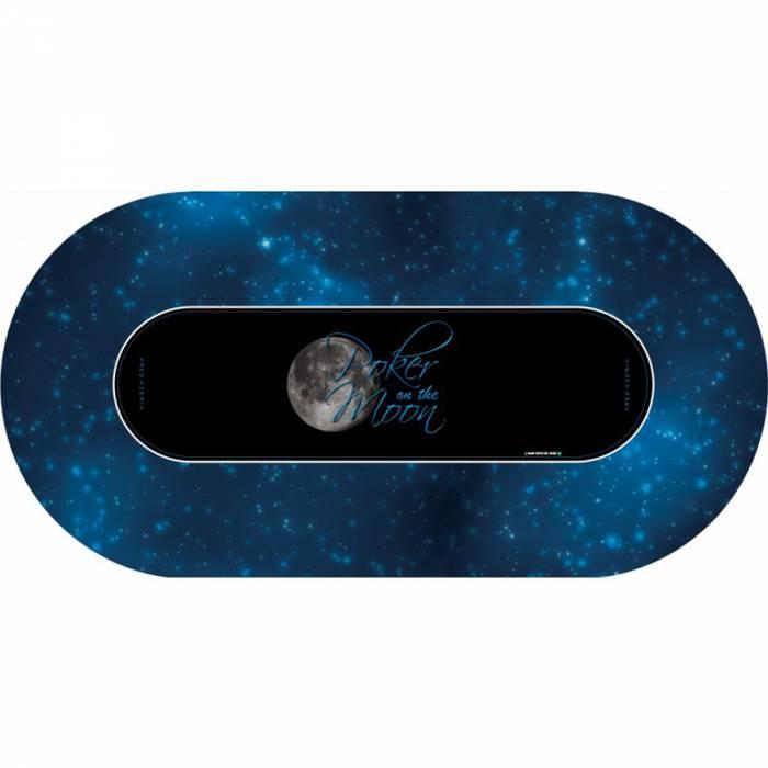 """Tapis de Poker """"Poker On The Moon"""" - ovale - 180 x 90 cm - ovale - jersey néoprène"""