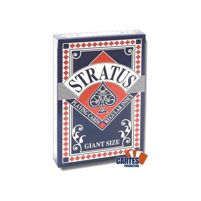 Stratus Grand format - Jeu de 52 cartes cartonnées plastifiées – 4 index standards