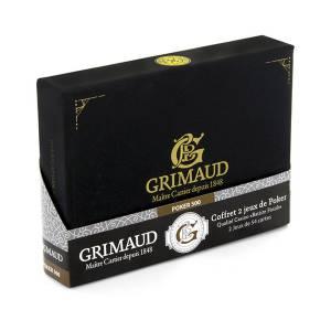 """Grimaud Expert - Coffret """"Exclusif"""" Poker 500 - cartes toilées plastifiées"""