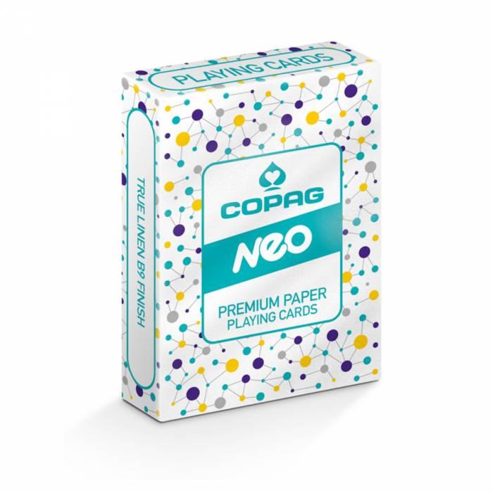 """COPAG Néo Lifestyle """"Connect"""" - jeu de 56 cartes toilées plastifiées – format poker – 2 index standards"""