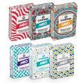 Pack 6 COPAG Néo Lifestyle - 6 jeux de 56 cartes toilées plastifiées – format poker – 2 index standards