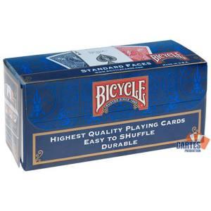 Cartouche Bicycle Standard – Jeu de 54 cartes toilées plastifiées – format poker – 2 index standards