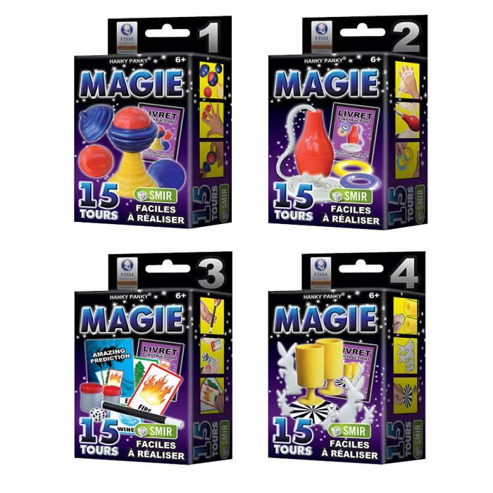 Pack Petit Coffret Magie - 1,2,3 et 4 - 60 tours avec livrets explicatifs