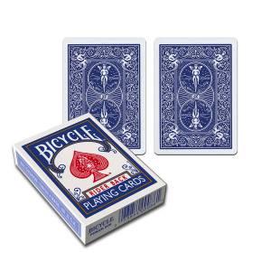Bicycle Standard Double Dos – Jeu de 54 cartes toilées plastifiées – format poker – 2 index standards