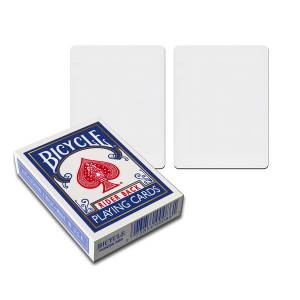 "Bicycle Standard ""Recto-Verso Blanc"" – Jeu de 54 cartes toilées plastifiées – format poker"
