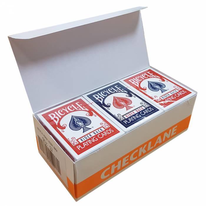 """Cartouche Bicycle """"807"""" - 12 Jeux de 56 cartes toilées plastifiées – format poker – 2 index standards"""