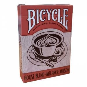 """Bicycle """"HOUSE BLEND"""" - Jeu de 56 cartes toilées plastifiées – format poker – 2 index standards"""