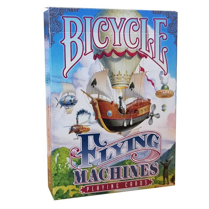 """Bicycle """"FLYING MACHINES"""" - Jeu de 56 cartes toilées plastifiées – format poker – 2 index standards"""