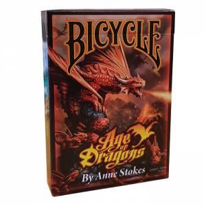 "Bicycle ""AGE OF DRAGONS"" - Jeu de 56 cartes toilées plastifiées – format poker – 2 index jumbo"