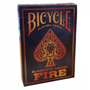 """Bicycle """"FIRE"""" - Jeu de 56 cartes toilées plastifiées – format poker – 2 index standard"""