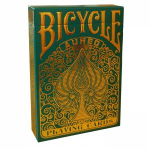 "Bicycle ""AUREO"" - Jeu de 56 cartes toilées plastifiées – format poker – 2 index standard"