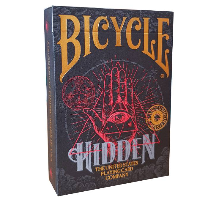 "Bicycle ""HIDDEN"" - Jeu de 56 cartes toilées plastifiées – format poker – 2 index standard"