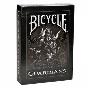 "Bicycle ""GUARDIANS""- jeu de 56 cartes cartonnées plastifiées – format poker – 2 index standards"