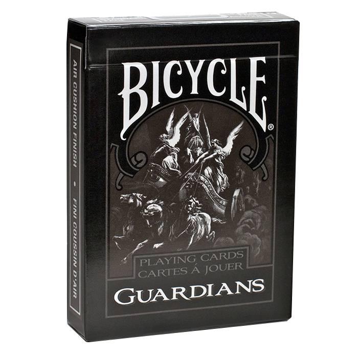 "Bicycle ""GUARDIANS""- jeu de 56 cartes cartonnées plastifiées – format poker – 2 index standards"