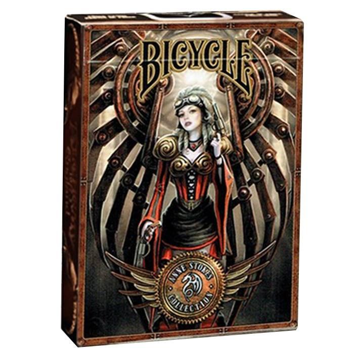 """Bicycle """"STEAMPUNK"""" - Anne Stokes Collection - jeu de 54 cartes toilées plastifiées – format poker – 2 index standards – Bicycle"""