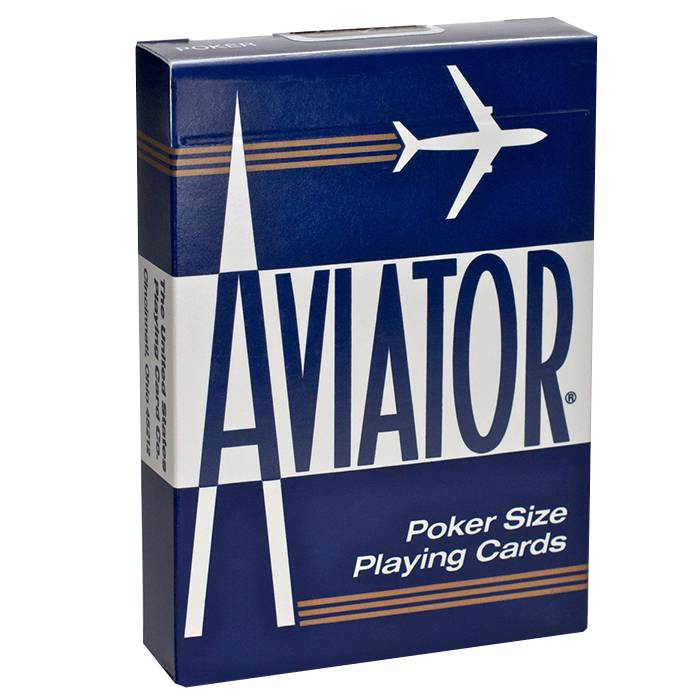 Aviator - Jeu de 54 cartes plastifiées – format poker – 2 index standards – USPC