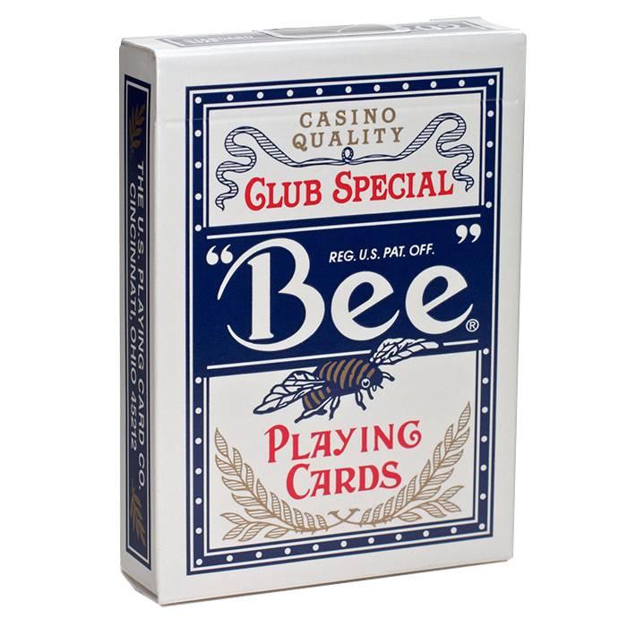 Bee - Jeu de 54 cartes toilées plastifiées – format poker – 2 index standards – USPC