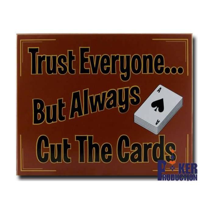 Trust Everyone - Panneau en bois 28x34 cm