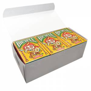 """Cartouche Bicycle """"BROSMIND"""" – 12 Jeux de 54 cartes toilées plastifiées – format poker – 2 index standards"""