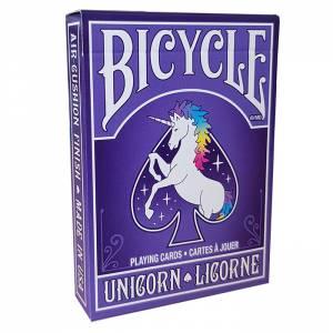 """Bicycle """"UNICORN"""" - Jeu de 56 cartes toilées plastifiées – format poker – 2 index standard"""