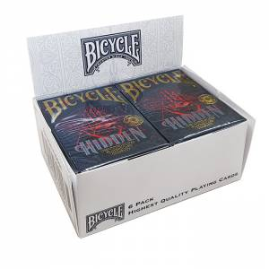 "Cartouche Bicycle ""HIDDEN"" - 6 Jeux de 56 cartes toilées plastifiées – format poker – 2 index standard"