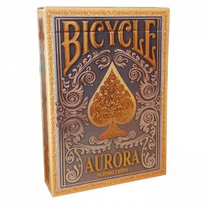 "Bicycle ""AURORA"" - Jeu de 56 cartes toilées plastifiées – format poker – 2 index standard"