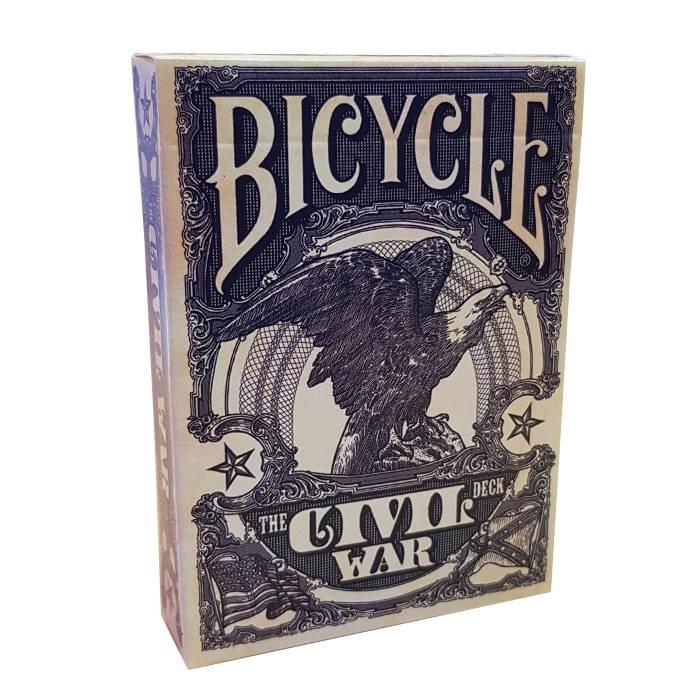 """Bicycle """"CIVIL WAR"""" - Jeu de 56 cartes toilées plastifiées – format poker – 2 index standard"""