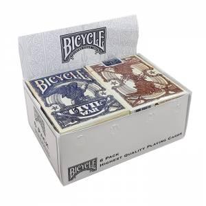 """Cartouche Bicycle """"CIVIL WAR"""" - 6 Jeux de 56 cartes toilées plastifiées – format poker – 2 index standard"""