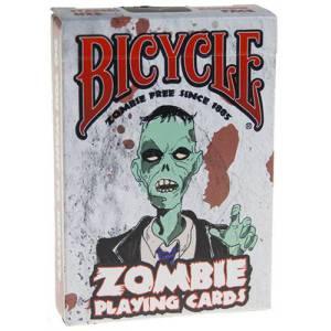 Bicycle Zombie - jeu de 54 cartes toilées plastifiées – format poker – 2 index standards