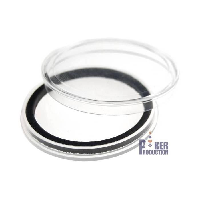 Protège-jeton transparent – en acrylique – 40mm de diamètre