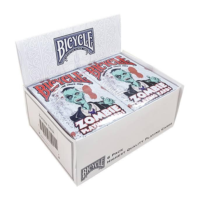 """Cartouche Bicycle """"ZOMBIE"""" - 6 jeux de 54 cartes toilées plastifiées – format poker – 2 index standards"""