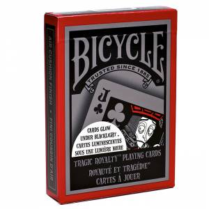 """Bicycle """"TRAGIC ROYALTY"""" – Jeu de 56 cartes toilées plastifiées – format poker – 2 index standards"""