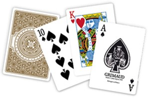 Index regular des cartes de poker